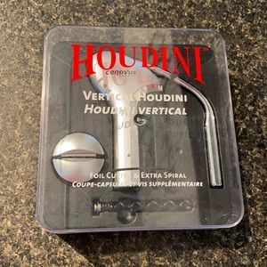 Houdini Vertical Corkscrew with Foil Cutter&Spiral